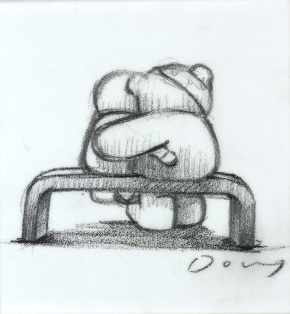 Showing Love (Study II) by doug hyde -  sized 3x3 inches. Available from Whitewall Galleries